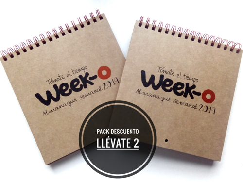 Pack descuento 2 almanaques week-o 2019