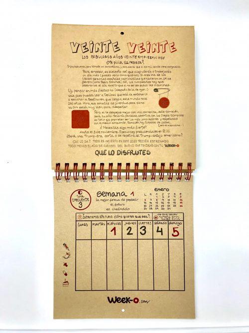 Primera página del calendario 2020